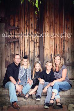 Casual family portrait.