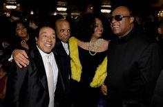 Smokey Robinson, Berry Gordy, Diana Ross, And Stevie Wonder   GRAMMY.com