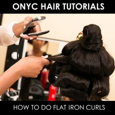 Want to know how to create flat-ironed curls? Watch now as ONYC CEO, Thelma Okoro teaches us how to create flawless flat-ironed curls using nothing more than a flat iron and some pins. For the tutorial we're using Jane, one of our featured customers who is wearing a custom blend of ONYC Relaxed and Light Relaxed perm textures.  To watch the complete video, visit us on ONYC Hair TV.