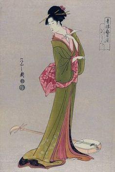 itsutomi / geisha w/ shamisen / hosoda / 1793