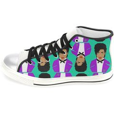 Prince Aka the Artist Formerly Know as Women's Hi Top Converse Style... ($88) ❤ liked on Polyvore featuring shoes, sneakers, silver, sneakers & athletic shoes, women's shoes, laced shoes, high top sneakers, silver hi tops, high top shoes and high top trainers