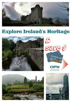 Use the OPW Heritage Card to gain admission to all fee paying Office of Public Works sites in Ireland during your vacation. Ireland travel tips Ireland Vacation, Ireland Travel, Galway Ireland, Cork Ireland, Europe Travel Tips, European Travel, Traveling Tips, Ireland Attractions, Castles In Ireland