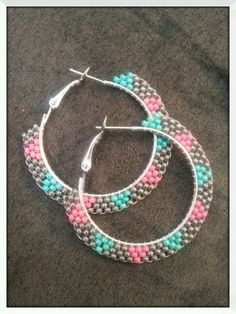 Native seed bead earrings