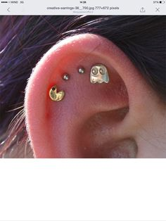 Pac man earings
