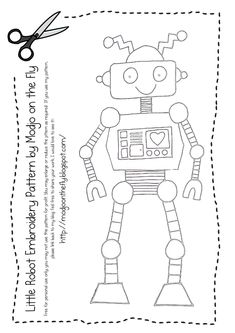 Robot Embroidery Pattern