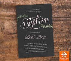 DIY Baptism Invitation Baptism Invite by SimplePieceDesigns, $10.00