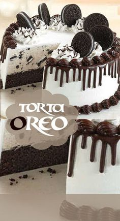 Chocolate and hazelnut cake - HQ Recipes Torta Oreo, Oreo Cake, Oreos, Cheescake Oreo, Sweet Recipes, Cake Recipes, Yummy Things To Bake, Yummy Treats, Sweet Treats