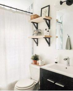 Modern Small Bathroom Decor Ideas On A Budget – Home Design Modern Boho Bathroom, Modern Small Bathrooms, Bathroom Design Small, Diy Bathroom Design Ideas, Simple Bathroom, Bath Design, Master Bathroom, Ideas Baños, Decor Ideas