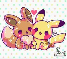 Pikachu é uma espécie fictícia pertencente à franquia de mídia Pokémon da Nintendo. Ele apareceu pela primeira vez no Japão em nos jogos eletrônicos Pokémon Red and Blue, e foi criado por Satoshi Tajiri. Пикачу и Иви друзья Cute Animal Drawings Kawaii, Cute Kawaii Animals, Cute Disney Drawings, Cute Drawings, Pikachu Drawing, Pikachu Art, Cute Pikachu, Anime Pokemon, Pokemon Eeveelutions