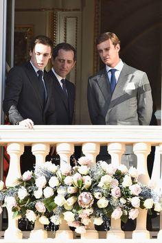 Louis Ducruet, Gad Elmaleh and Pierre Casiraghi