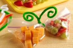 fruit & cheese snack - seriously, how cute is this??  #kraftrecipes