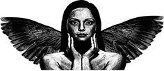 modern Angel woman art Digital Image Download printable clipart png clip art downloadable art images Digital stamp graphics digi stamp