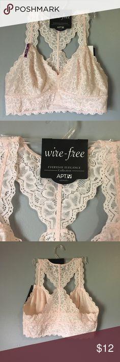 d6b094dea2710 Apt 9 light pink lace bralette Apt 9 size M light pink lace bralette. Not