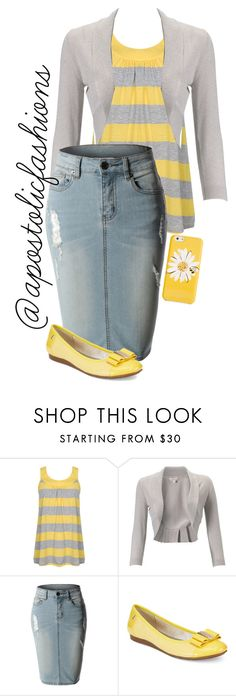 """""""Apostolic Fashions #1339"""" by apostolicfashions on Polyvore featuring Forever 21, Monsoon, LE3NO, Anne Klein and Kate Spade"""