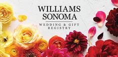 Sonoma Wedding Registry Sonoma Wedding Registry Build your new life together from the world's largest selectio. Wedding List, Wedding Fonts, Free Wedding, Wedding Stuff, Wedding Crafts, Wedding Decorations, Wedding Freebies, Wedding Gift Registry, Craft Free