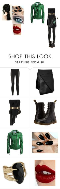 """""""Auradon Prep #4"""" by locksley-cxli ❤ liked on Polyvore featuring DKNY, Dion Lee, Kelly Ewing, Dr. Martens, Danier, Charlotte Tilbury and GREEN DRAGON"""