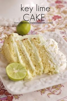 key lime cake - light, lovely and delicious!