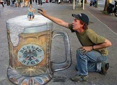 3D Street Art - Beer