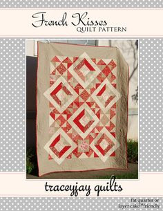 French Kisses PDF Quilt Pattern by traceyjay quilts by traceyjay, $8.50
