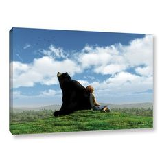 "ArtWall Cynthia Decker 'Cloud Watchers' by Cynthia Decker Wall Art on Canvas Size: 16"" H 24"" W"