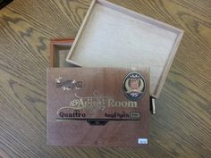 Cigar Box Natural Finish Beautiful All Wood by FunEclecticHF