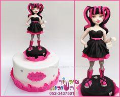monster high cake by cakes-mania עוגת דרקולרה (מונסטר היי) מאת שיגעון העוגות - www.cakes-mania.com