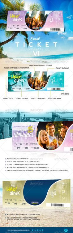 Event Ticket Template V Ticket template, Event ticket and Print - bus ticket template