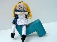 Alice in Wonderland, Fairy Tale & Fantasy Finger Doll, hand-knit http://www.etsy.com/listing/159542266/alice-in-wonderland-fairy-tale-fantasy?ref=teams_post