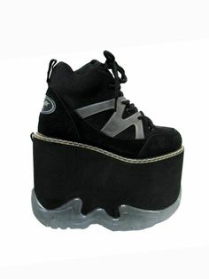 Club Kid Platform Shoes Womens Dzzack!! Rave Gym Stack Mondo Platform Boots by Atomicfireball, $110.00