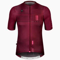 MAILLOT ATTITUDE UNISEX MAROON Cycling Jerseys, Unisex, Road Bike, Fun Workouts, Motorcycle Jacket, Attitude, Leather Jacket, Zip, Jackets