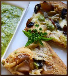 Hot Buttered Rum Honig Maitake-Pilz und Olive Pizza