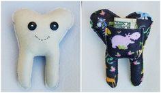 Tooth fairy pillow Jungle handmade keepsake by RaisinFran on Etsy