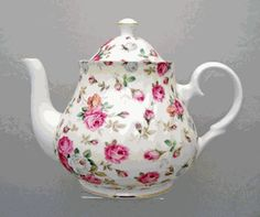 Antique Rose Bone China Teapot - 6 Cup  Product #: 490964-bh  Our Price: $99.97