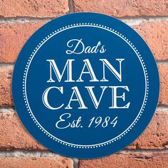 Personalised Heritage Blue Plaque - Man Cave | GettingPersonal.co.uk