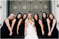 Bridesmaids Holding Hands || Cadre Building || Memphis Wedding Photographer || Christen Jones Photography