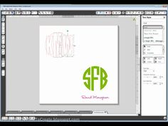 creating circle monogram - (good tutorial on how to crop & move points!!)