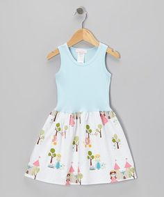 Take a look at this Light Blue Modern Princess Dress - Infant, Toddler & Girls by Alejandra Kearl Designs on #zulily today!