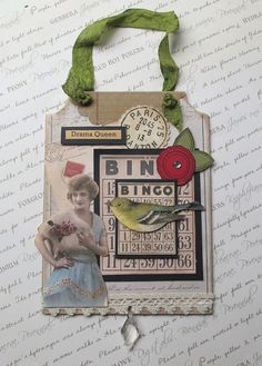 Bingo Vintage Inspired Wall Hanging