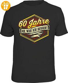 Original RAHMENLOS® Geschenk T-Shirt zum 60. Geburtstag: 60 Jahre, nie war ich besser! Größe XXL, Nr.1921 schwarz - Shirts zum 60 geburtstag (*Partner-Link)