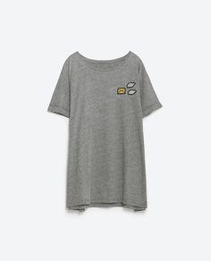 OVERSIZED PATCH T - SHIRT - T - shirts - TRF | ZARA Turkey
