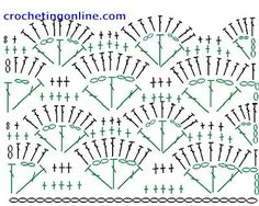 crochet shell stitch diagram patterns from google