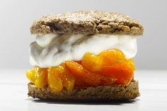 Buckwheat Shortcakes with Earl-Grey Apricot Compote and Whipped Cream