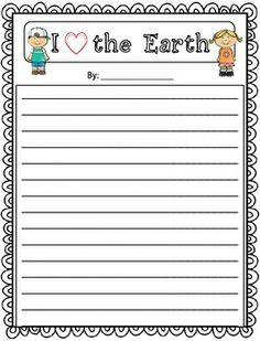 FREE Earth Day Writing Prompts and Pages thesciencepenguincom