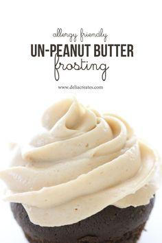 Un- Peanut Butter Frosting - allergy friendly! - Delia Creates