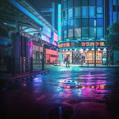 Japan 2077: Takaaki Ito Captures Cyberpunk Tokyo In Dark And Moody Neon