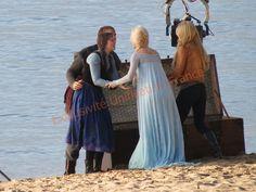 Jennifer, Georgina,Elizabeth and Scott - Behind the scenes - season 4 episode 9