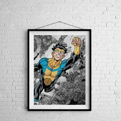 Invincible - Digitally Painted Tribute  - PRINTED - BUY 2 Get 1 FREE by ShamanAlternative on Etsy