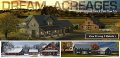 postandbeam pre-designed barn & barn home kits dream acreage slider