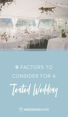 """9 Factors to Consider for a Tented Wedding - A wedding reception beneath a tent can give the best of both worlds - an outdoor feel, but shielded from the elements. There are a few things you should consider before saying """"Yes!"""" to a tented wedding! Check them out on WeddingWire!  {Levien & Lens Photography}"""