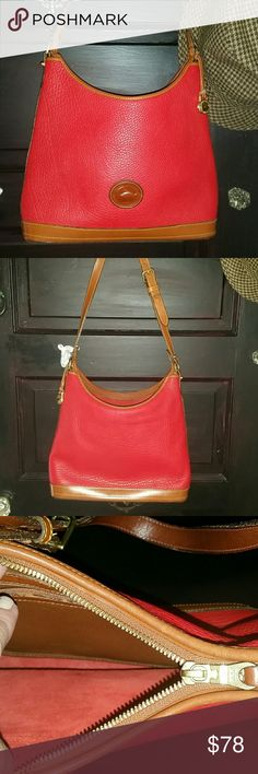 Dooney & Bourke bag Two-tone Leather bag by Dooney & Bourke.  Measures approximately 10 x 12.  Pre-owned, but excellent condition. Dooney & Bourke Bags Shoulder Bags